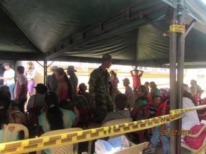 Ejercito llevando bienestar a las comunidades vulnerables de Colombia.