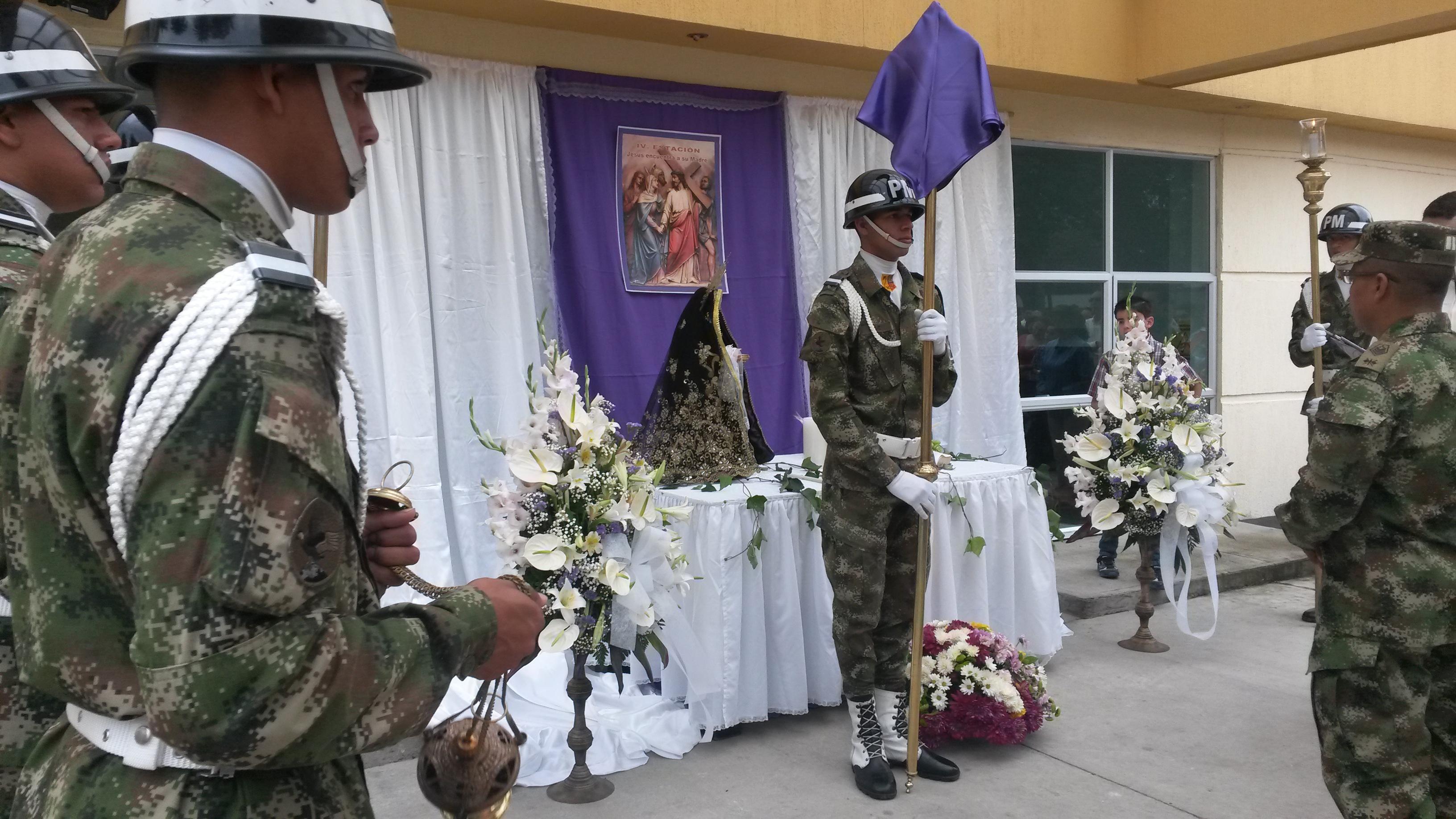 Semana Santa en el Cantón militar de la Séptima División